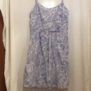 Gap size 10 Tall light summer dress lined paisley